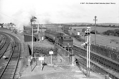 25/06/1955 - Bere Alston, Devon. (53A Models) Tags: britishrailways lswr southernrailway o2 044t 30225 steam passenger berealston devon train railway railroad locomotive