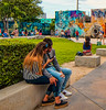 The Wynwood Walls couple. (Aglez the city guy ☺) Tags: crop streetphotography people perspective colors walking exploration experiment outdoors wynwood wynwoodwalls miamifl miamicity walkingaround