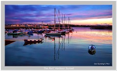 The Port' Harbour Sunset (Oul Gundog) Tags: port portrush co antrim northern ireland harbour boats yachs sailing sunset ulster