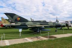 281 MiG-21 @ Musée Européen de l'Aviation de Chasse 15th June 2016 (_Illusion450_) Tags: aérodromedancone montélimar muséeeuropéendelaviationdechasse 150616 museum lflq xmk aeroplane aviation avion aircraft airplane flugplatz 281 2394 mig21