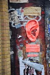 DSC_1752 Brick Lane London Street Art Audio Surveillance Zone Big Brother is Listening (photographer695) Tags: brick lane london street art audio surveillance zone big brother is listening