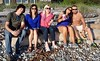 On The Beach - Jul 16, 2016 (Jeffxx) Tags: chumei beth shay jerry mike crabash beach elizabeth fidalgo allen 2016 july anacortes beer log driftwood