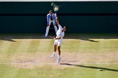 Djokovic serves
