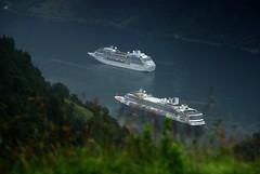 Ships in the grass (DoctorMP) Tags: norwegia norway norge moreogromsdal góry lato summer mountains geirangerfjorden fjord geiranger statek ship skip