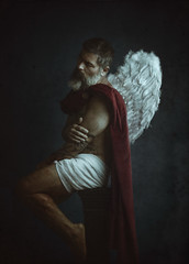 Archangel. Spiritual warrior, protector of our earthly life and soul. (jcalveraphotography) Tags: portrait photo photographer projects people picture beard bearded archangel work warrior selfportrait selfie serie studio wings drawing artofvisual art artistic 365 explore 365days
