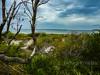 There is a storm a brewin (1DesertRose) Tags: coolpix nikon beach australian australia south coast coastal stormy storm clouds sea ocean bay sand white green shrubs tree bark natural nature shoreline shore sandbank