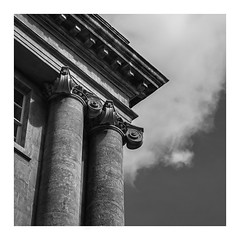 Supporting edge. (Martyn.A.Smith) Tags: clouds buildings stonework outdoors old pillars window angles architecture corner