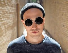 Mark (jeffcbowen) Tags: mark street stranger portrait shades glasses sunglasses backlight ryersonuniversity toronto hat