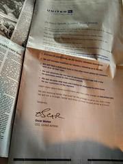 Remember this? (Dan_DC) Tags: unitedairlines ceo oscarmunoz apology advertisement fullpagedisplayad uniteddraggingincident publicrelations washingtonpostnewspaper newspaperdisplayad notoriety