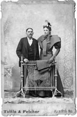 1895 - Ed and Mattie [Bowles] Swank