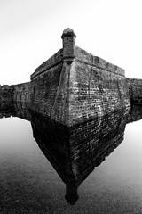 The San Pablo Bastion of Castillo De San Marco (Artista Imagini) Tags: castillodesanmarcos sanpablo bastion staugustine florida moat coquina