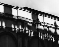 Shadow Lamp (Thomas Listl) Tags: thomaslistl blackandwhite noiretblanc biancoenegro wall shadows lamp lantern streetlamp light contrasts diagonal graphical