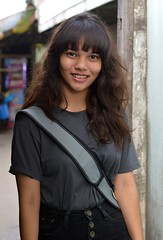 pretty young lady with long hair and decorative braces (the foreign photographer - ฝรั่งถ่) Tags: pretty young lady decorative teeth braces khlong thanon portraits bangkhen bangkok thailand nikon d3200