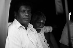 faces.. (paul.wienerroither) Tags: people faces blackandwhite blackwhite bw portrait srilanka moment arugambay travel travelphotography photography canon 50mm 5dmk3 look driveby tuktuk seriou serious
