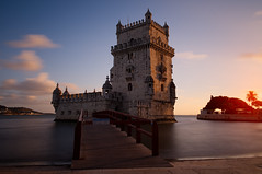 Belém Tower (Nathan Wyatt) Tags: xpro1 longexposure colour light 18mm lisbon lisboa lisbona tagus rio tejo torre de belém world heritage age discovery military monument national portuguese architecture reflections wideangle tower outdoor nd filter travel