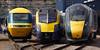 High Speed Trains (McTumshie) Tags: 180102 20170902 253001 43002 800803 adelante br britishrail class180 dmu gwr greatwesternrailway hst highspeedtrain hitach intercity125 intercity125highspeedtrain intercityexpresstrain london ooc111 oldoakcommon queenelizabeth queenelizabethiiqueenvictoria sirkennethgrange class253 class800 depot diesel openday railway train england unitedkingdom