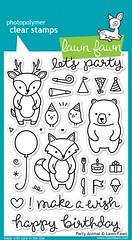 Party Animal (Issy Stamps) Tags: balloon animals icecream birthdaycake partyhats heart makeawish cutlery star confetti happybirthday gift