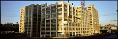 Watchtower Building, Brooklyn, NY. 1984 (tonywright617) Tags: watchtowerbldg brooklynbridge newyork usa fujica g617 panoramic kodak 120 iso400 mediumformat film analogue fullframe