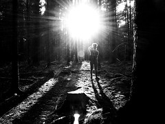 Unknown Identity... (Vivi Black) Tags: girl emotions lost forest rural summer drama composition dontlookback human outside outdoor light blackandwhite
