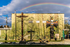 Totem 15 (KVSE) Tags: things totempoles rainbow arc totems duncanbc duncan bc cityoftotems