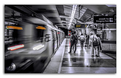 Taking an image, freezing a moment, reveals how rich reality truly is! (FotographyKS!) Tags: train metro underground delhi dmrc blur moving motion commute wait blackwhite blackandwhite monochrome people platform public editorial speed subway urban city tube tubestation rail railway photography street perspective selectivecolor traveladdict travelforlife totravelistolive nikon ishootraw wonderfulplaces commuter curving direction outdoor cpaital newdelhi horizontal pattern railroad station transportation travel bush railwaytrack symmetry barakhamba road longexposure modern modernization progress society structure building architecture barakhambaroadmetrostation