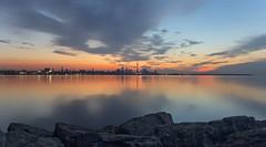Sunrise Toronto (sspike@rogers.com) Tags: sunrise toronto steverossi water lake ontario sky rock landscape