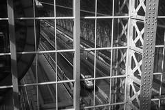 Looking down into the great train shed (realjv) Tags: 2017 architecture blackandwhite engineshed engineering eurostar iron london monochrome openhouse railway stpancras stpancrasinternational station train transport victorian england unitedkingdom gb