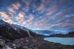 To the End Of The Earth (Anna Kwa) Tags: tasmanglacier tasmanglacierterminallake tasmanglacierview sunset clouds sky southernalps glaciers iceberg moraine tasmanvalley aorakimountcooknationalpark overlook mackenziebasin southisland newzealand annakwa nikon d750 afszoomnikko1424mmf2 my totheendoftheworld always seeing heart soul throughmylens feeling fate destiny travel world wonderwall omm