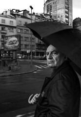 |Balkan Noir| (Vagelis Poulis) Tags: balkan blackandwhite balkans serbia savamala fujifilm fujix100t 35mm people oldman rain belgrade streetphotography street monochrome portrait building blackwhite fujinonlens bw city urban urbanphotography