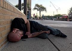 morning (#KPbIM) Tags: metro detroit michigan epidemic tattoo 2017 opioids street man june drugs washington summer out heroin morning sidewalk royaloak asleep drool
