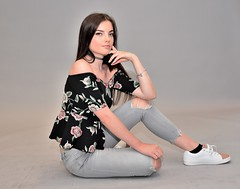 Watch this space! (pstone646) Tags: youngwoman younglady people portrait pretty beauty blueeyes studio jeans