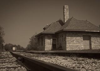 Harrisville Depot - Looking North