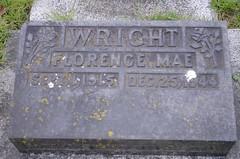 Gravestone - Florence Mae Smith