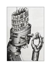 Le Robot (Jean-Louis DUMAS) Tags: art artist artistic artiste artdelarue streetart abstract humour ibiza noiretblanc noretblanc noir bw black robot