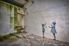 we're playing Jojo with our world... (Knee Bee) Tags: jojo world kids wallpainting urbex industire industrial decay
