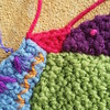 A detail of how I filled in the gap with crochet (crochetbug13) Tags: crochet crocheted crocheting crochetbug crochetcrazyquilt crochetfan crochetafghan crochetblanket crochetthrow embroidery embroideredcrochet