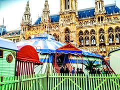 "Balkonlogen (LUMEN SCRIPT) Tags: wien rathaus circus street farben colours fence ""flickrtravelaward"" symmetry coloursplosion colourartaward vividstriking vivid colour color"