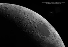 Moon Venus comparative size composite (Roger Hutchinson) Tags: moon venus planets solarsystem space astronomy celestronedgehd11 asi174mm astrophotography london craters