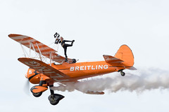 Wing Walking (Trev Green) Tags: airplane aircraft airshow breitling wingwalker nikon sigma biplane southport