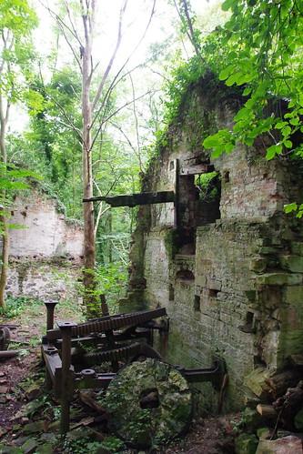 Crumbling watermill at Hawarden
