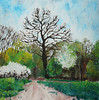 Čimice. (cernaovec) Tags: painting acrylics canvas art acrylicpaint landscape tree trees nature prague praha acrylicpainting originalart season green sky park outdoor outdoors czech czechrepublic