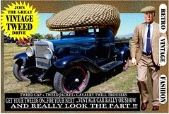Join The Great Vintage Tweed Drive jpg 5 (The General Was Here !!!) Tags: tweedcap vintage car cars auto autos vehicle tweed coat jacket nz kiwi newzealand club rally drive canon photo text outdoor retro fashion oldschool cavalrytwilltrousers 100 wool gents mens auckland whangarei tauranga rotorua gisborne napier hastings newplymouth hamilton palmerstonnorth wellington nelson christchurch dunedin oamaru invercargill poster sydney melbourne brisbane scottish countrytweed english uk british wales london paris berlin waearing man