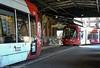 Sydney Light Rail - LRV2120 and LRV2123 meet at the Railway Colonnade - 3 (john cowper) Tags: sydneylightrail lrv2123 lrv2120 railwaycolonnade centralrailwaystation terminus caf urbos3 transportfornsw tramway trams tramstop l1 sydney newsouthwales