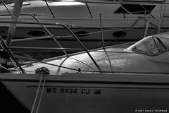 Morning Moment (David C. McCormack) Tags: blackwhite bw blackandwhite boat eos eos6d greatlakes harbor lakemichigan lakefront lake midwest monochrome outdoor pier wisconsin water sailboat