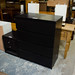 Black stained wood chest of drawers E80