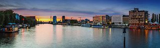 Berlin sunset - Skyline Panorama