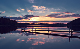 Sunset on the lake. #Finland #summer. Just nature at its best.