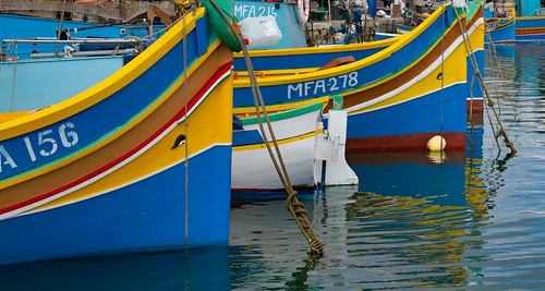 Fishing boats at Marsaxlokk 9a