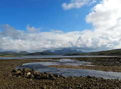 Ben Loyal (2,507ft), Sutherland, August 2017 (allanmaciver) Tags: ben loyal sutherland north coast scotland tide out water river kyle tongue clouds low black white grey stones enjoy admire allanmaciver peaks mountain