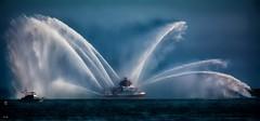 The Spray (beachpeepsrus) Tags: fireboat longbeachcalifornia alamitosbay water westcoast california color